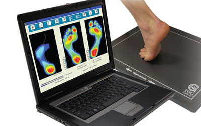 Infrared Gait Scan Used to create Custom Orthotics