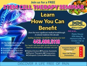 Stem Cell Dinner Presentation by Dr. Stephen Erle