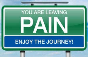 You Are Leaving Pain Behind
